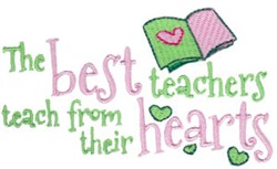 Teach From Hearts embroidery design