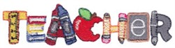 Teacher embroidery design