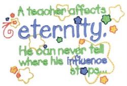 Teacher Affects Eternity embroidery design