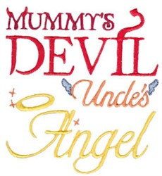 Uncles Angel embroidery design