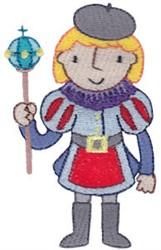Boy Prince embroidery design