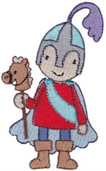 Knight & Pony embroidery design