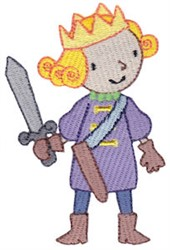 Prince And Sword embroidery design