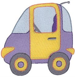 Mini Car embroidery design