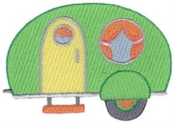 Camp Trailer embroidery design