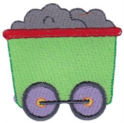 Coal Car embroidery design