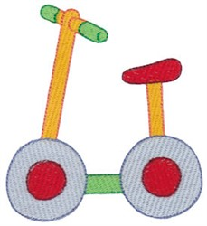 Scooter Bike embroidery design