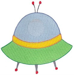 UFO Space Ship embroidery design