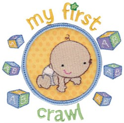 My First Crawl embroidery design