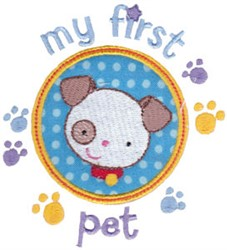 My First Pet embroidery design