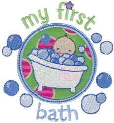 My First Bath embroidery design