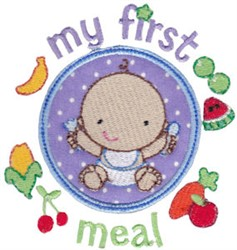 My First Meal embroidery design