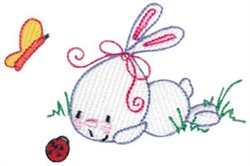 Bunny & Bugs embroidery design
