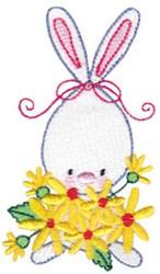 Rabbit & Flowers embroidery design