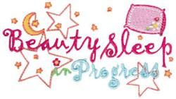 Beauty Sleep embroidery design