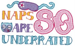Naps Underrated embroidery design