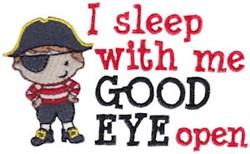Sleep With Eye Open embroidery design