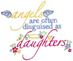 Angels Disguised embroidery design