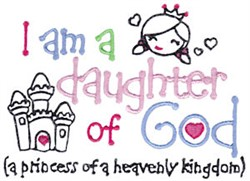 Daughter Of God embroidery design