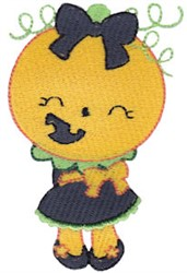 Halloween Girl embroidery design