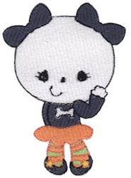 Panda Girl embroidery design