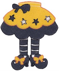 Witch Legs embroidery design