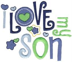 Love My Son embroidery design