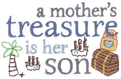 Mothers Treasure embroidery design