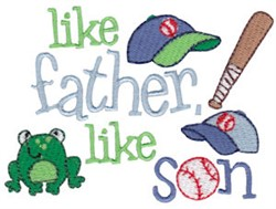 Like Father embroidery design