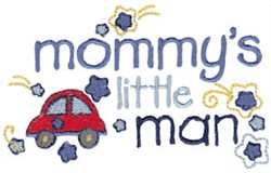 Mommys Little Man embroidery design