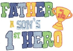 Sons 1st Hero embroidery design