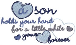 A Son embroidery design