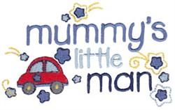 Mummys Little Man embroidery design