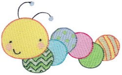 Caterpiller embroidery design