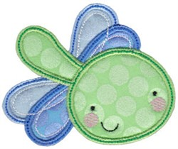 Applique Dragonfly embroidery design