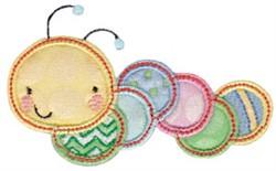 Applique Caterpiller embroidery design