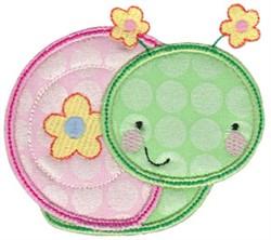 Applique Snail embroidery design