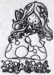 Redwork Fairy embroidery design