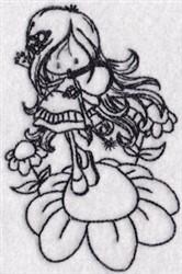 Redowrk Daisy Girl embroidery design