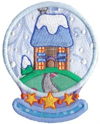 Snowglobe Home embroidery design