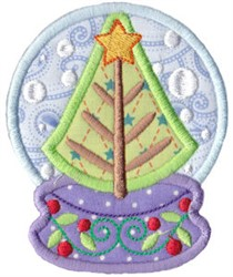 Snowglobe Tree embroidery design