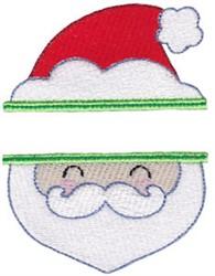 Santa Name Drop embroidery design