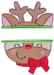 Reindeer Name Drop embroidery design
