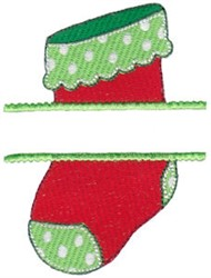 Stocking Name Drop embroidery design