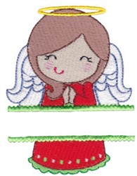 Angel Name Drop embroidery design