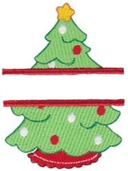 Tree Name Drop embroidery design