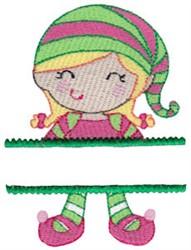 Name Drop Elf embroidery design