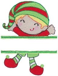 Name Split Elf embroidery design