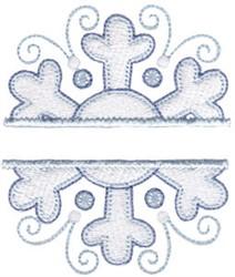 Name Drop Snowflake embroidery design