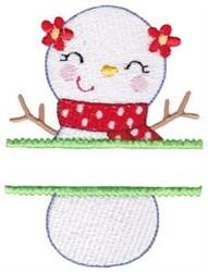 Name Split Snowman embroidery design